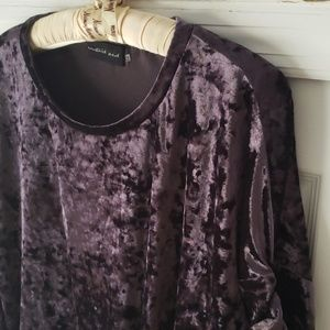 MUSTARD SEED purple velvet cinch blouse
